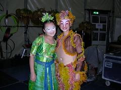 Zhu Sha & Liao Wenting (Pat Rioux) Tags: people circus staff artists acrobats cirque cirquedusoleil dralion aroundtheworld europeantour