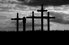 Black Death Cruxes (Matthias Hilf) Tags: blackandwhite art germany photography cross searchthebest minolta tag blackdeath dynax monochrom tod pest badenwrttemberg badenwuerttemberg lichtspiel schwarzer blackplague emmingen hegau pestkreuze