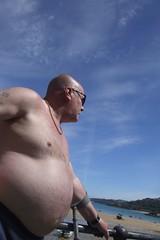 2006-06-04_15-27-15_1 (wingpig) Tags: summer england man english saint cornwall fat sweaty finepix fujifilm s9500 stives sunburnt obese unhealthy corpulent rotund unpleasant