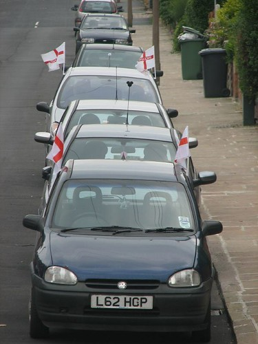 England Car Flags Leeds