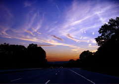 Recede (Nicholas_T) Tags: road sky weather clouds newjersey lowlight highway driving dusk commute creativecommons commuting i80 cirrus allamuchy interstate80 warrencounty 123nj