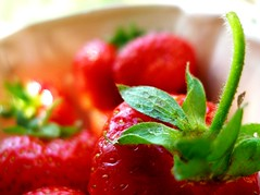 into the red (Gosia Margosia) Tags: red food fruits june fruit strawberries