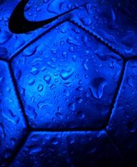 Fields closed due to rain (javanutmom) Tags: blue macro sports wet rain sport ball football drops soccer explore raindrops lookatme 17 soccerball kiss2 kiss3 jnmphoto kiss1 kiss4 kiss5 kiss6 621315p
