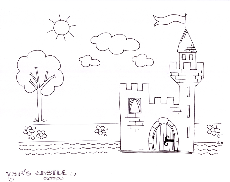 Free Coloring Pages Of Fairy Tale Castle