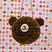 Amigurumi Chocolate teddy bear keychain