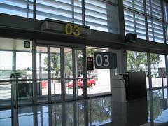 Un gate piccolo piccolo (marcomazzei) Tags: travel summer airport spain gate menorca minorca