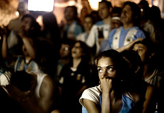 Argentina Attacks (& misses) (Ali Brohi) Tags: football fever fans emotion argentina germany worldcup2006 fifa nycbar restaurant portraits southamericans soccer nyc newyorkcity ethnicity prettypeople energy canon 20d seedingchaos fifa2006 argentina2006 worldcup footballworldcup soccerfans footballfans emotionalfootballfans hotfootballfans footballbar footballbarinnyc httpwwwmoazzambrohicom moazzambrohicom wwwmoazzambrohicom