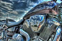 Metallic Clouds (Stuck in Customs) Tags: harley harleydavidson motorcycle hog hdr southernmetalchoppers focuspocus