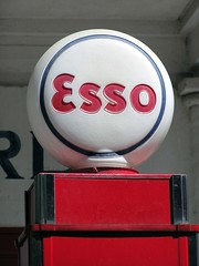 Esso (Petrol Station) (yahnyinlondon) Tags: summer signs colour oslo norway petrol esso bygdy norskfolkemuseum