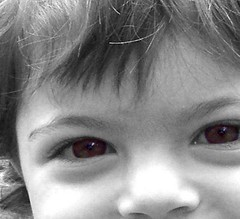 time future (ithil) Tags: portrait bw macro eye smile cutout child future irene blackribbonicon