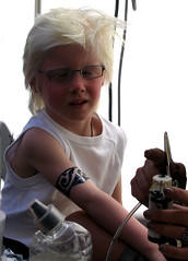 He wanted a tattoo (ZoomLoes) Tags: boy summer festival tattoo webloes 2006 paintbrush purmerend reuring