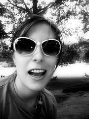 Emily in Central Park BW (Darny) Tags: park nyc newyorkcity summer portrait bw newyork emily centralpark manipulation webpeople mireasrealm darny