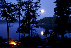 Moon over Minnesota - by Steve took it