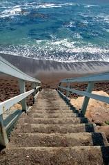 Stairway to Cool (KaroliK) Tags: ocean beach stairs july 2006 pismo interestingness12