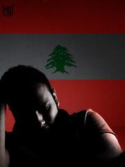 Lebanon ((mO) - Photography) Tags: red lebanon man black tree male guy green me photo momo colours flag egypt 2006 cairo mohammed designs giza fathi mo mohammedfathi mo