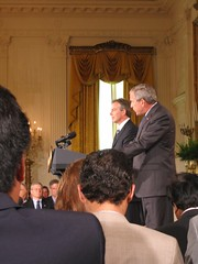 Bush-Blair Joint Press Conference, 7.28.06 (strader) Tags: dc washington bush politics whitehouse international blair pressconference internationalrelations copyright2006straderpayton internationalaffairs
