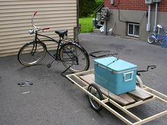 Homebuilt bicycle trailer 3