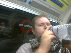 Gaz on the Underground (Abhorsen The Final Death) Tags: people train liverpool limestreet