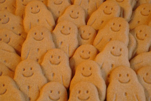 The gingerbread man ran away and started a large family.