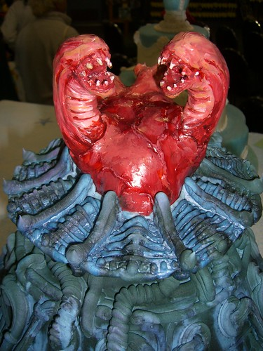 Close up of alien cake top