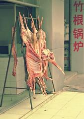 Fresh Meat (Pat Rioux) Tags: china meat butcher chengdu sichuan carcass appetizing sterilized