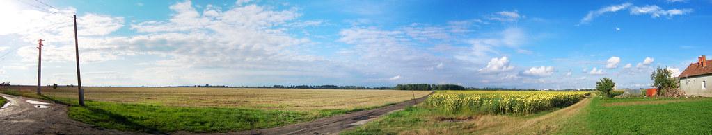 Pano of Diakovce's (Deáki; Slovakia) landscape