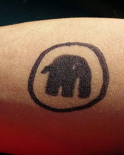 elephant tattoo designs. Elephant Sharpie Tattoo