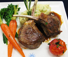 Lamb Chops (javicon) Tags: food menu singapore dish class business airline lamb chops businessclass