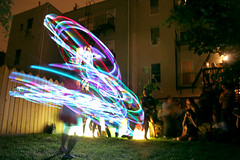 TMWDPE (sgoralnick) Tags: party hoop lights backyard bbq hulahoop themostwelldocumentedpartyever