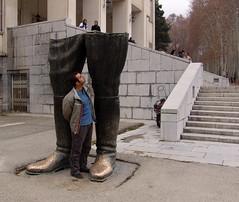 The shah's legs