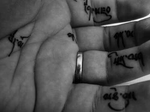 tattoed fingers These are