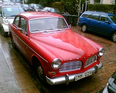 Something Swedish for a change? (jeepcreep) Tags: old red volvo amazon swedish oldtimer classical 121 autos oldies timer klassiker karre schwedisch volvo121 p1300