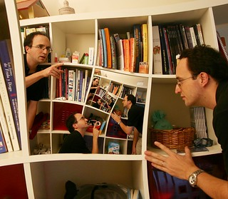 Having an argument about a bookcase