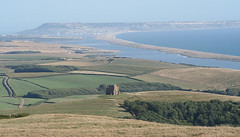 View to Chesil Beach and Isle of Portland. (Canis Major) Tags: portland coast dorset 500 chesilbeach noset abbotsbury continuum stcatherineschapel