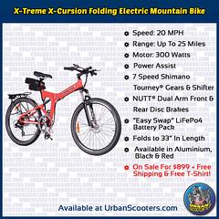 X-Treme X-Cursion Folding Electric Mountain Bike (urbanscooters) Tags: xtreme xcursion folding mountainbike foldingbike electricbike mountainbikes electricbikes foldingbikes bike bicycle bikes bicycles shimano nutt liion lifepo4 lithium