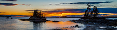 Middle Bay Sunset (Me in ME) Tags: harpswell maine sunset dusk middlebay panorama