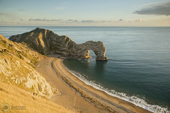 22/10/16 - Durdle Door (Dave.Kirwin) Tags: dorset durdledoor beach sand limestone arch scenic scenery england country sea water waves sunset warm rocks cliff