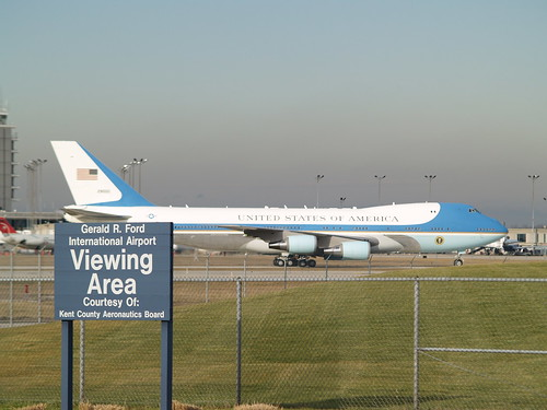 Gerald R. Ford arrives in Grand Rapids - January 2, 2007