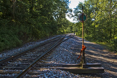 Switching Post (brucetopher) Tags: train switch vermont track traintracks brucetopher switchingpost