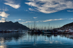 _DSC2299 Blue Hour over Hout Bay (jagpot) Tags: ocean sunrise southafrica harbour dusk ships capetown houtbay carlzeiss distagont1435zf2