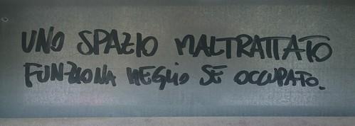 """""""Uno spazio maltrattato funziona meglio se occupato"""" Trieste 2015"""