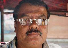 Balaraju (AnimeshHazra) Tags: street portrait india man moustache specs driver hyderabad autodriver telangana