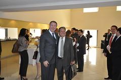 Edgard Hermelino Leite Júnior recebe convidados