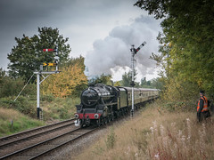 Being observed. (DavidPadley) Tags: october steam gala 2015 gcr preservedrailway