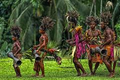 Sing-sing Dancers, Haya Village, Papua New Guinea (bfryxell) Tags: dancers papuanewguinea singsing oceania melanesia madang hayavillage