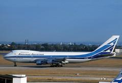 Aerolineas Argentinas 747 'LV-OEP' (Longreach - Jonathan McDonnell) Tags: london scan boeing boeing747 1990s 747 1990 londonheathrow egll 747200 nikoncoolscanved scanfromaslide 747200b 747287b 456004 lvoep 19091990