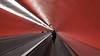 Métro (pi3rreo) Tags: city red urban abstract paris rouge metro transports couleur couloir souterrain lignes urbain abstrait sélective