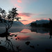 Autumn sunrise Padarn lake.