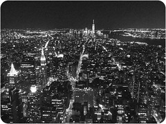 (nameer.) Tags: world new york city urban bw white black building fall skyline architecture night america buildings observation october downtown skyscrapers state united center deck empire metropolis states trade 2015