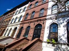 Brownstones, New York, NY (Robby Virus) Tags: nyc newyorkcity ny newyork architecture buildings harlem manhattan housing bigapple brownstones